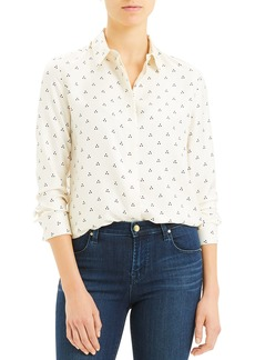 Theory Vintage Dot Classic Button-Down Shirt