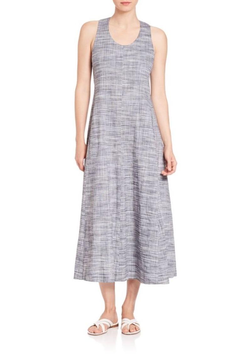 Theory Vlorine Harbor Crunch Midi Dress