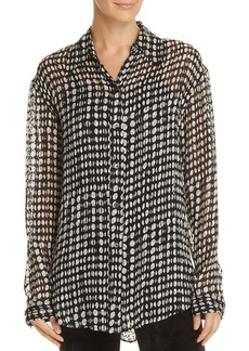 Theory Weekender Dot-Print Shirt