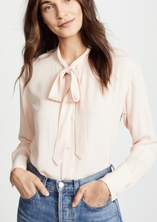 Theory Weekender Tie Neck Button Down