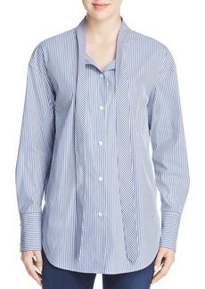 Theory Weekender Tie-Neck Shirt