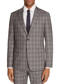 Theory Wellar Tonal Check Plaid Slim Fit Suit Jacket