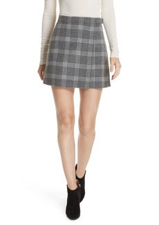 Theory Westport Plaid Wool & Cashmere Miniskirt