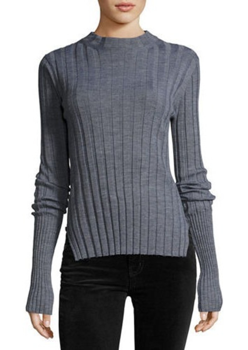 f9cfe43352 On Sale today! Theory Theory Wide-Rib Mock Neck Fitted Sweater