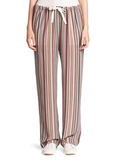 Theory Winszlee Silk Track Pants