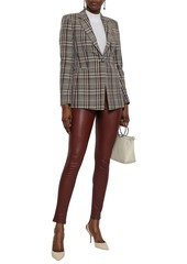 Theory Woman Adbelle Stretch-leather Leggings Brick