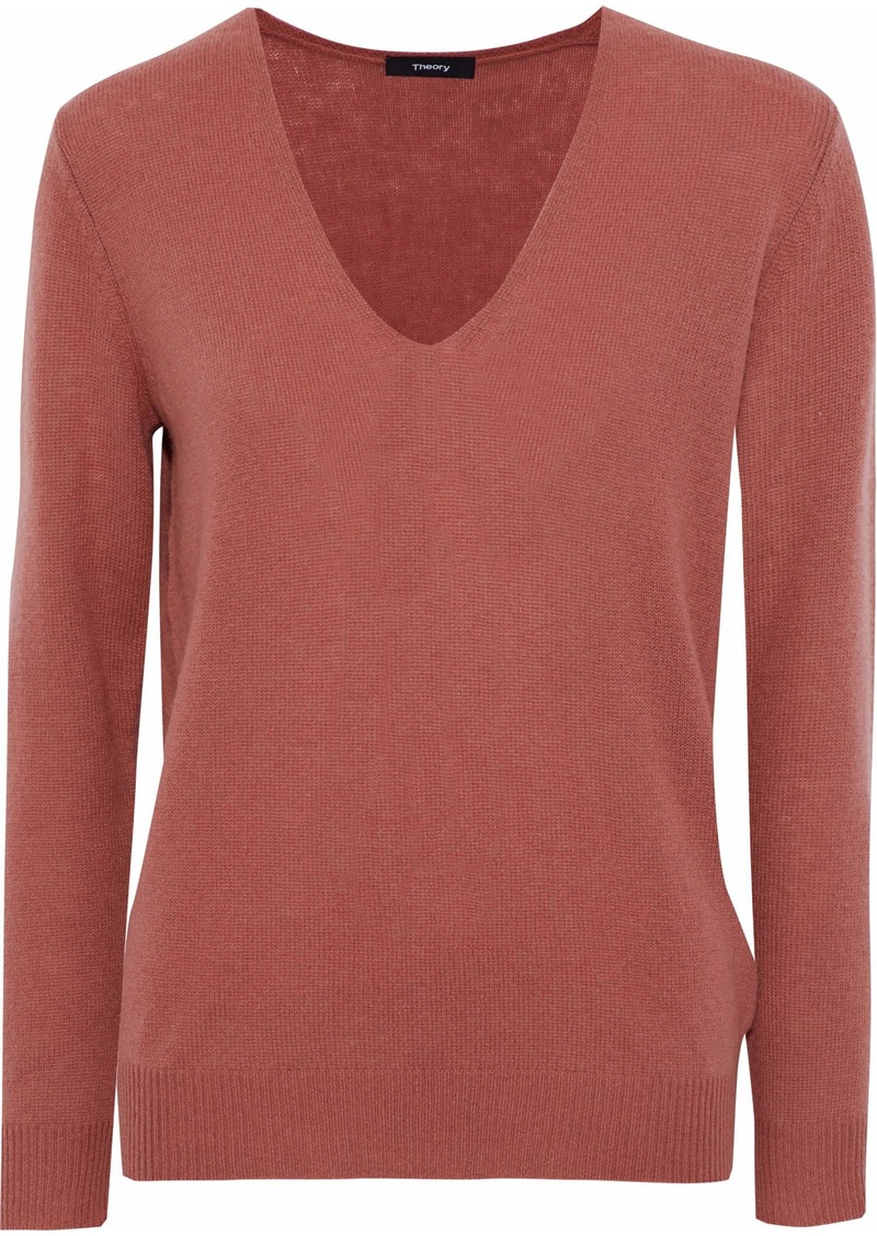 Theory Woman Adrianna Cashmere Sweater Antique Rose