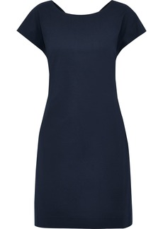 Theory Woman Andrizza Twist-back Ribbed Cotton-blend Mini Dress Navy