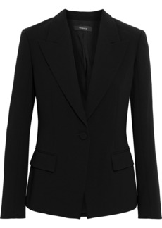 Theory Woman Angled Crepe Blazer Black