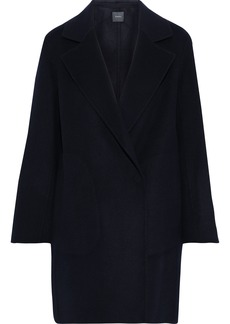 Theory Woman Boy Wool And Cashmere-blend Coat Midnight Blue