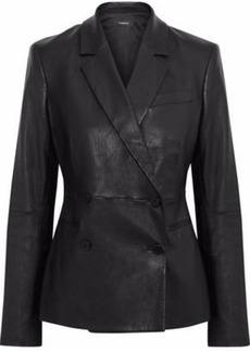 Theory Woman Bristol Leather Blazer Black