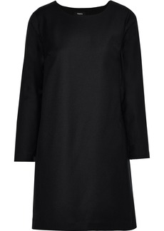 Theory Woman Brushed-wool Mini Dress Black