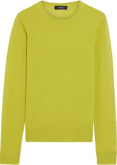 Theory Woman Cashmere Sweater Lime Green