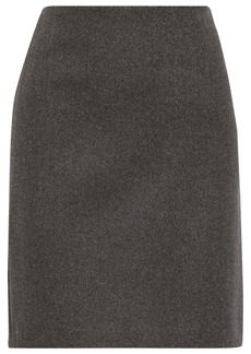 Theory Woman Cashmere-tweed Mini Skirt Brown