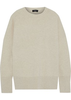 Theory Woman Charmant Wool-blend Sweater Beige