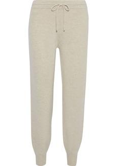 Theory Woman Charmant Wool-blend Track Pants Beige