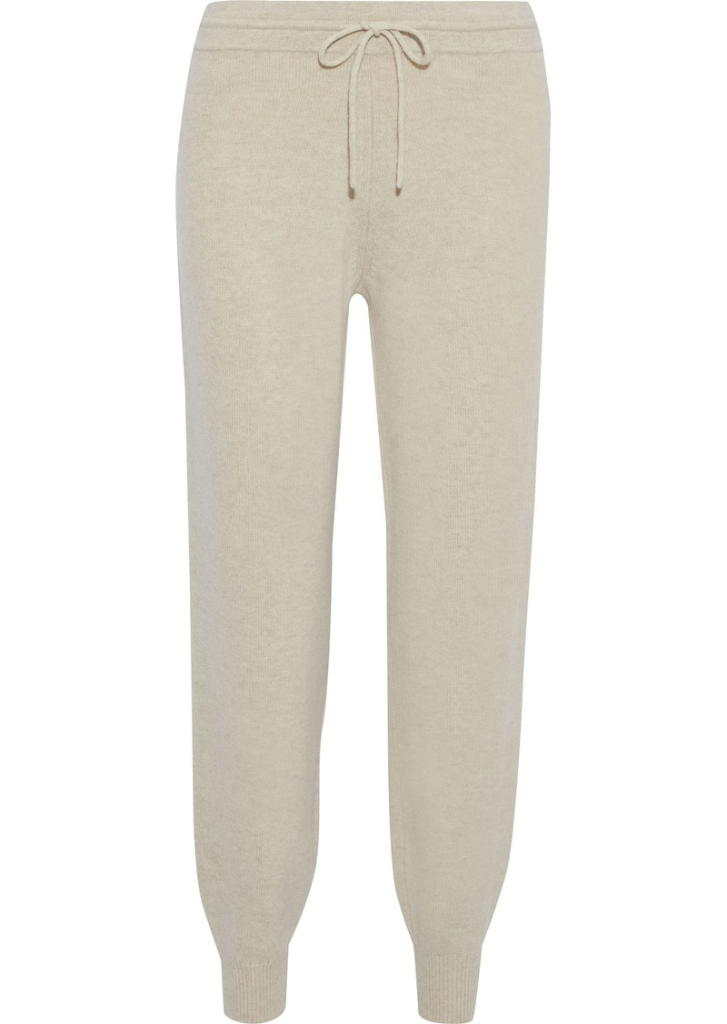 Theory Woman Wool-blend Track Pants Beige