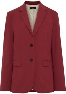Theory Woman Wool-blend Blazer Crimson