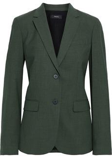 Theory Woman Classic Wool-blend Blazer Dark Green