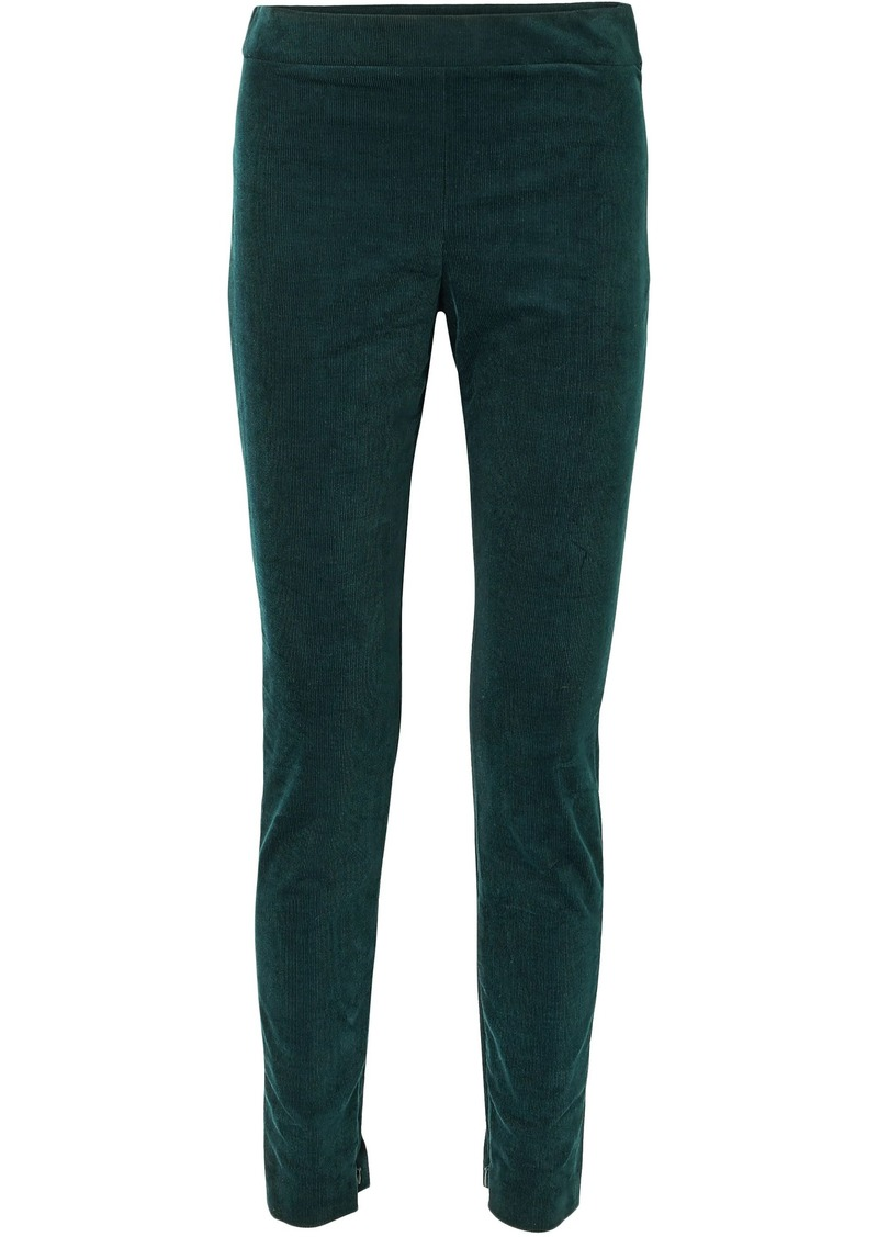 Theory Woman Cotton-blend Corduroy Skinny Pants Forest Green