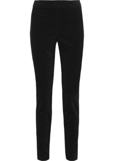 Theory Woman Cotton-blend Corduroy Leggings Navy