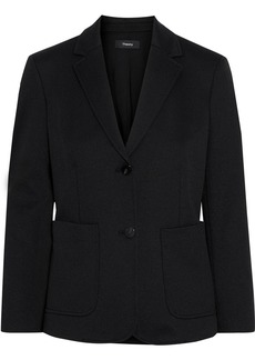 Theory Woman Cotton-blend Piqué Blazer Black