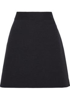 Theory Woman Cotton-blend Piqué Mini Skirt Black