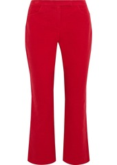Theory Woman Cotton-blend Twill Kick-flare Pants Ivory