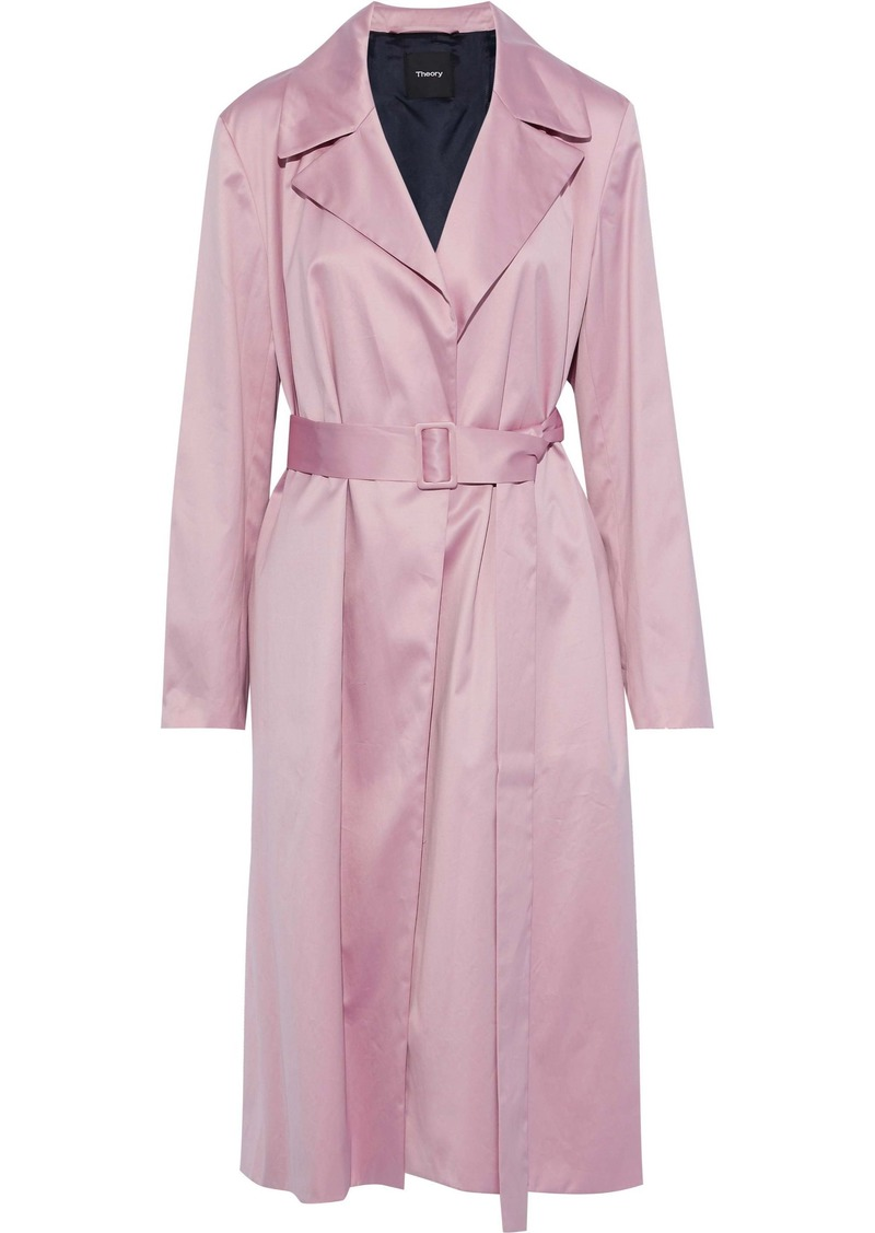 Theory Woman Cotton-voile Trench Coat Lilac