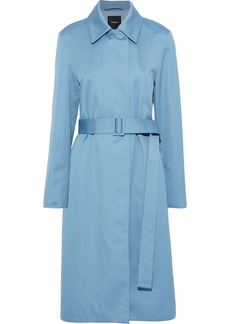 Theory Woman Cotton-twill Trench Coat Sky Blue