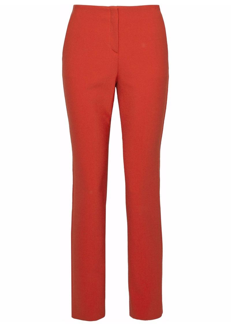 Theory Woman Crepe Slim-leg Pants Orange