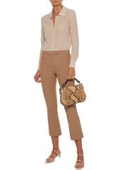 Theory Woman Cotton-blend Cady Kick-flare Pants Camel