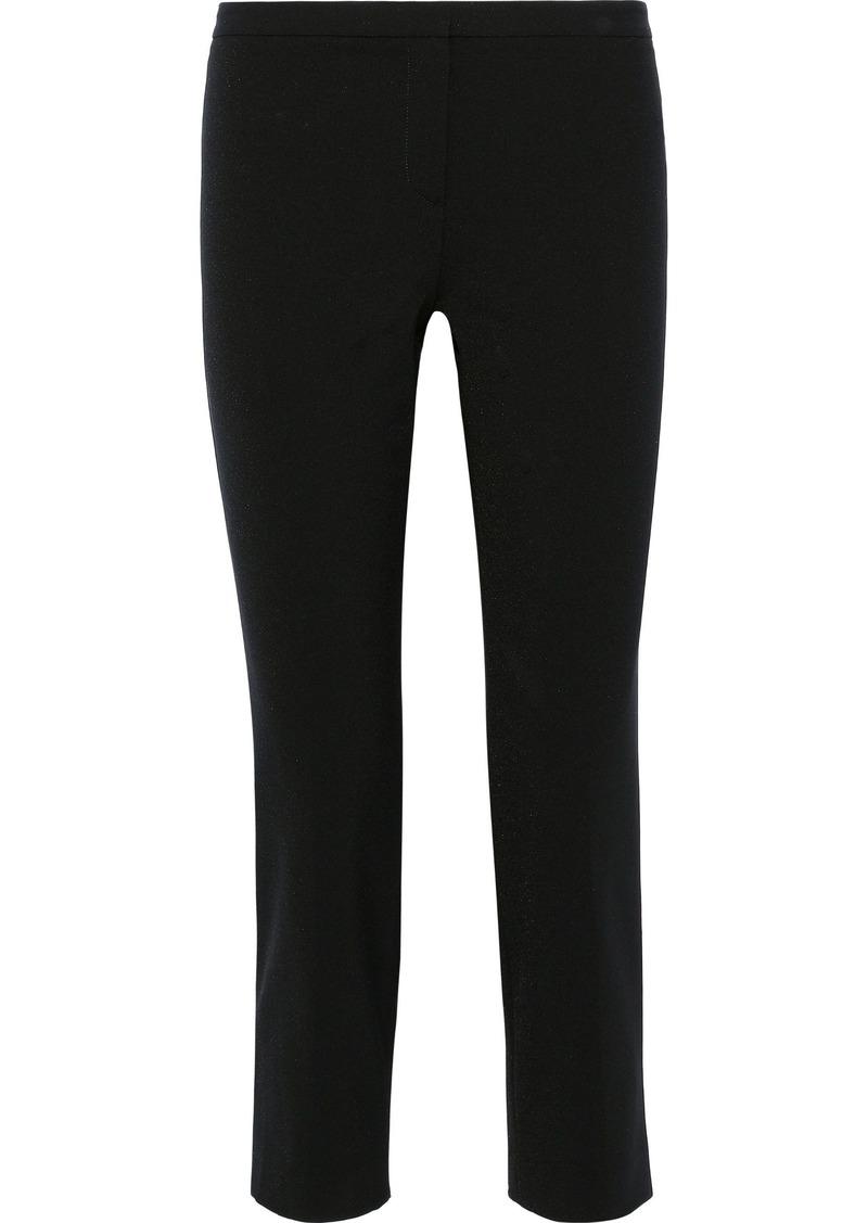 Theory Woman Cropped Cady Slim-leg Pants Black