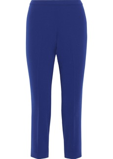 Theory Woman Cropped Crepe Tapered Pants Royal Blue