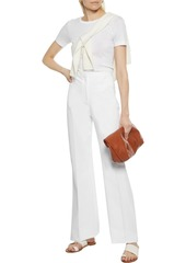 Theory Woman Demitria 4 Cotton-blend Twill Flared Pants White