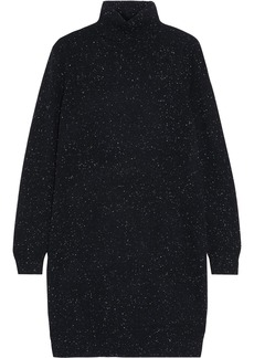 Theory Woman Donegal Cashmere Turtleneck Mini Dress Black