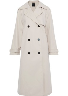 Theory Woman Gabardine Trench Coat Ivory
