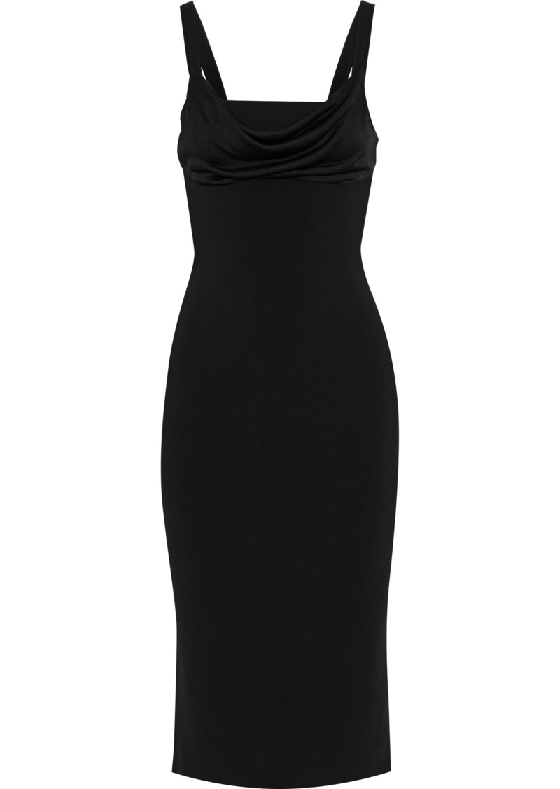 Theory Woman Draped Knitted Dress Black