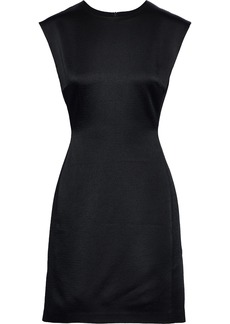 Theory Woman Hammered-satin Mini Dress Black