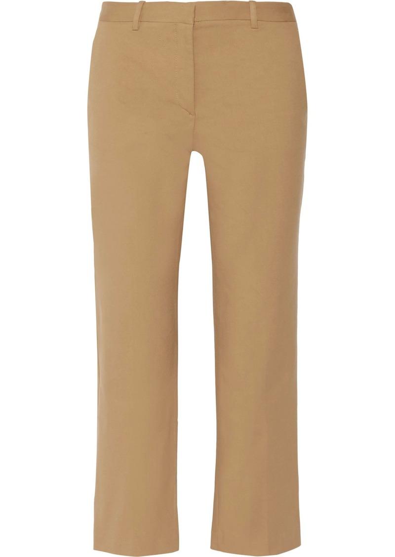 Theory Woman Hartsdale Cotton-blend Canvas Straight-leg Pants Sand