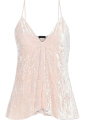 Theory Woman Crushed-velvet Camisole Pastel Pink