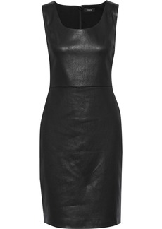 Theory Woman Leather Dress Black