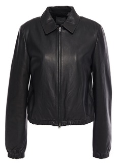 Theory Woman Leather Jacket Black