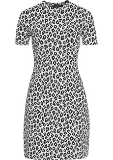 Theory Woman Leopard-jacquard Mini Dress Animal Print