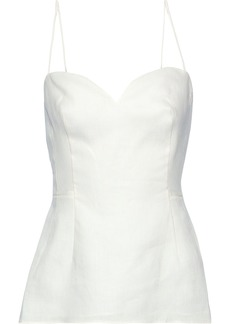 Theory Woman Linen Peplum Camisole White