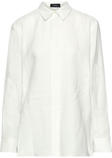 Theory Woman Linen Shirt White