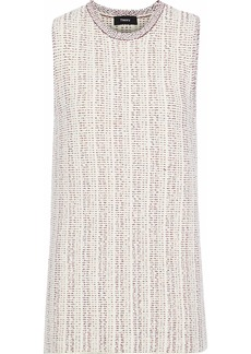 Theory Woman Meenaly Cotton-blend Bouclé Sweater Ivory