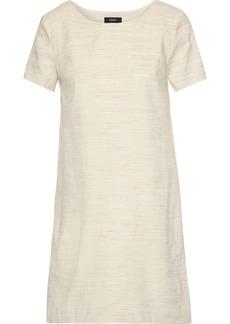Theory Woman Mélange Linen-blend Mini Dress Neutral