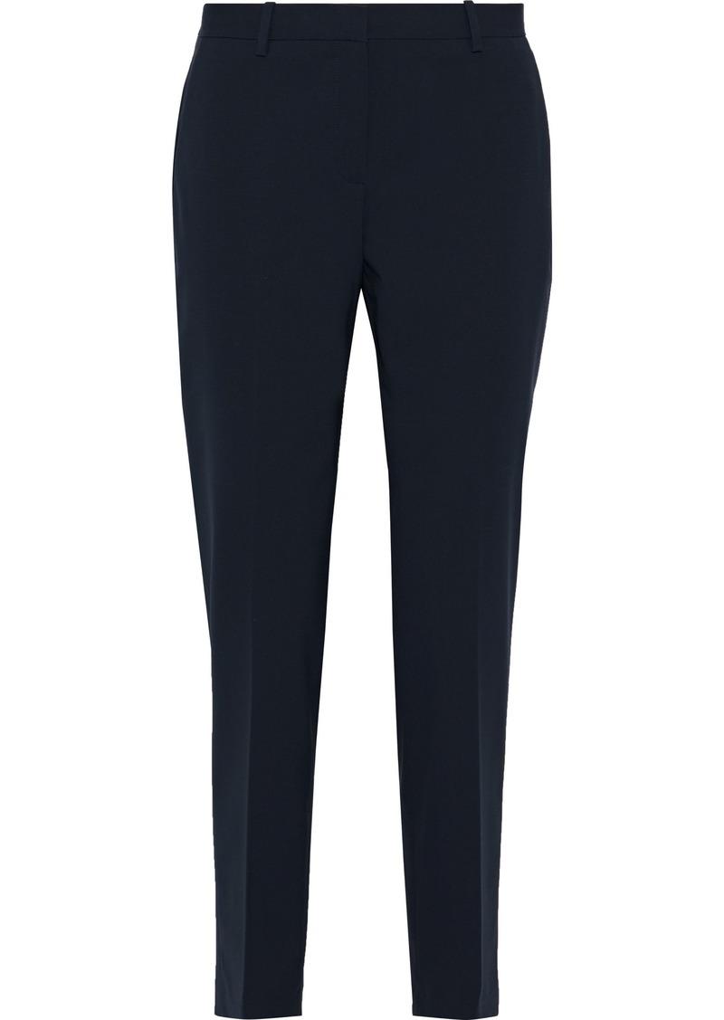 Theory Woman Stretch-wool Straight-leg Pants Navy
