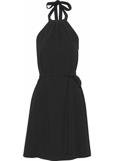 Theory Woman Nayline Crepe Halterneck Dress Black
